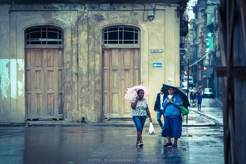Kvinnor med paraply