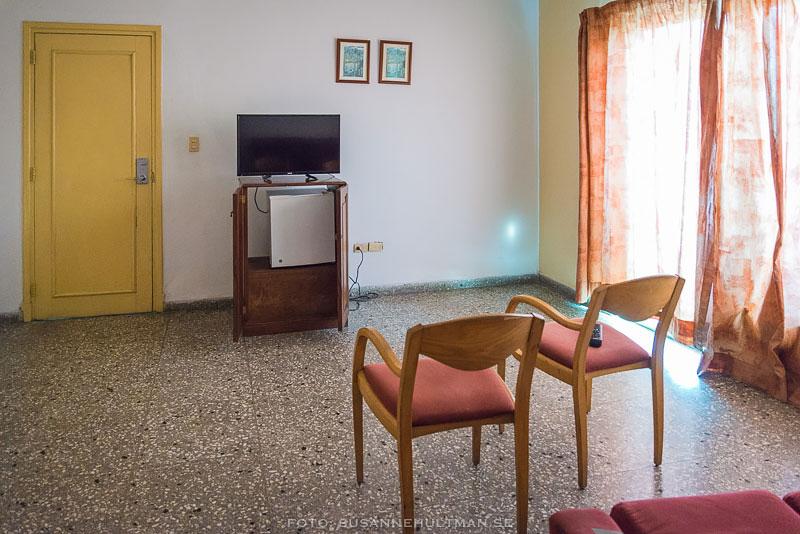 Första hotellrummet
