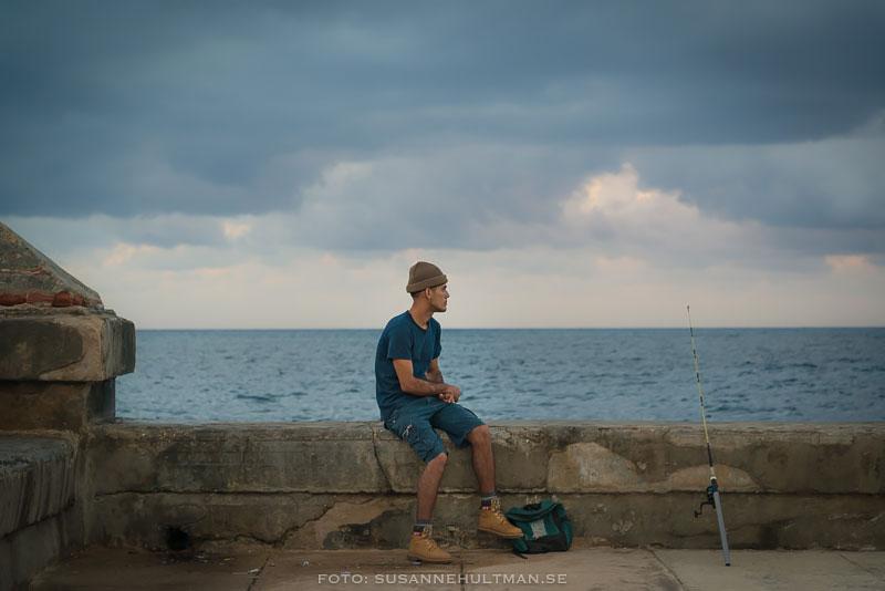 Fiskare på Malecón