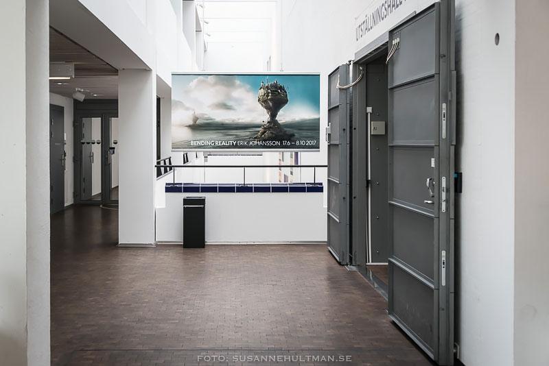 Annons om Erik Johanssons utställning