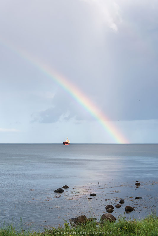 Regnbåge över Östersjön.