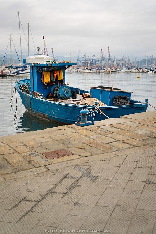 Gammal blå båt