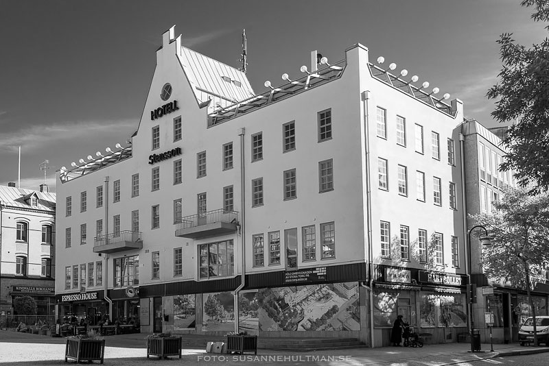 Stenssons hotell i svartvitt
