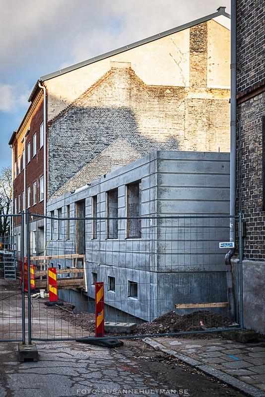 Byggnation på Storgatan