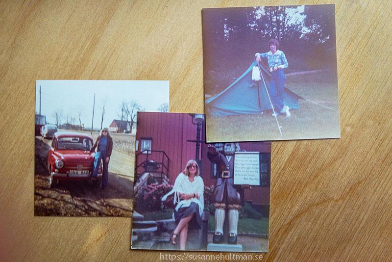 Tre gamla foton från vår semester